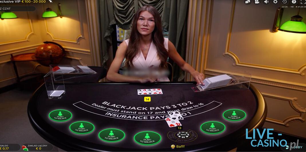 Baccarat z Żywym Krupierem w kasynie Euro