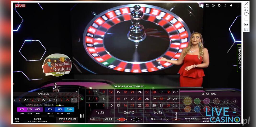 Ruletka na żywo w kasynie Betsson