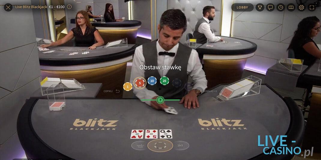 Blackjack na Żywo w Kasynie Online