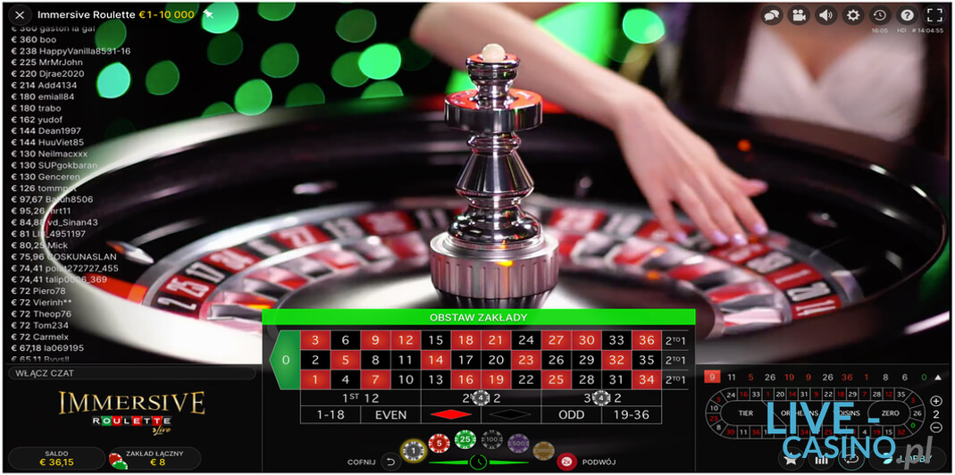 Ruletka na Żywo w kasynie online